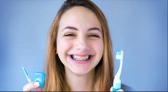This is the image for the news article titled How To Clean Your Teeth With Braces